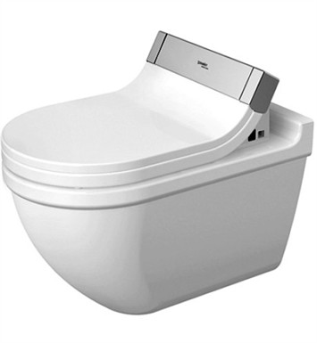 Duravit 2226590092 Starck Elongated Wall Mounted One Piece Toilet