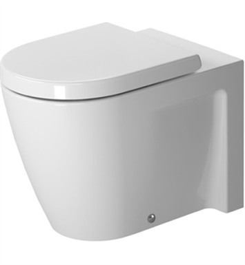 Duravit 2128090092 Starck Elongated Floor-Mounted Back-to-Wall Toilet