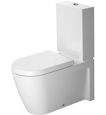 Duravit 2129090092 Starck Elongated Two-Piece Close-Coupled Toilet Bowl