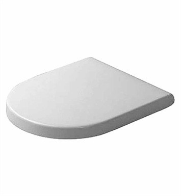 Duravit 0063890000 Starck Plastic Round Toilet Seat and Cover in White Alpin Finish