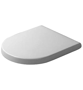 Duravit 0063810000 Starck Plastic Round Toilet Seat and Cover in White Alpin Finish