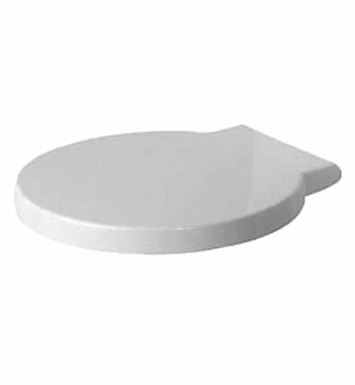 Duravit 0065880099 Starck Plastic Round Toilet Seat and Cover in White Alpin Finish