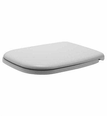 Duravit 0067390000 D-Code Plastic Specialty Toilet Seat and Cover in White Alpin Finish