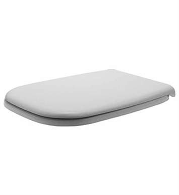 Duravit 0067310000 D-Code Plastic Specialty Toilet Seat and Cover in White Alpin Finish