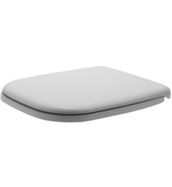 "Duravit 0067410000 D-Code 18 3/4"" Plastic Elongated Toilet Seat and Cover without Soft Close in White"