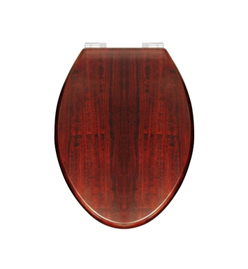Rohl RS2870 Elongated High Gloss Wooden Easy Close Decorative Toilet Seat