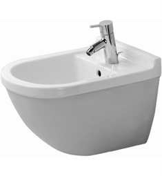 Duravit 2280150000 Starck Wall Mounted Bidet in White Alpin Finish