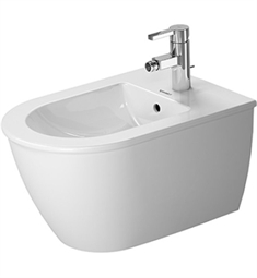 Duravit Darling New Spray Wall Mounted Bidet in White Alpin Finish