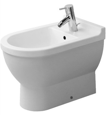 Duravit 2230100000 Starck Floorstanding Bidet in White Alpin Finish
