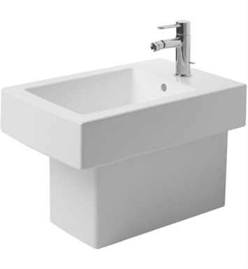 Duravit 22401000001 Vero Spray Bidet Floor Standing With Faucet Holes: Single Hole