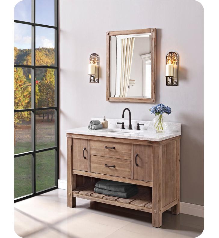 Fairmont designs 1507 vh48 napa 48 open shelf vanity in sonoma sand for Bathroom vanities under 500