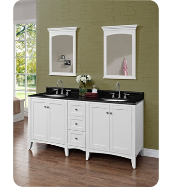 "Fairmont Designs 1512-V30_DB12_V30 Shaker Americana 72"" Double Bowl Vanity in Polar White"