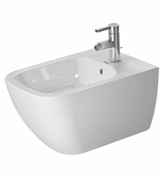 Duravit Happy D Spray Bidet Wall Mounted in White Alpin Finish
