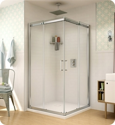 Fleurco STC42 Banyo Shuttle Square 42 Semi Frameless Corner Entry Sliding Doors