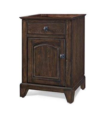 "Ryvyr V-JAMES-24EC James 24"" Traditional Bathroom Vanity in English Chestnut Finish"