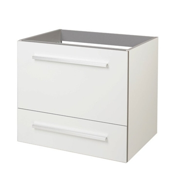 "Ryvyr V-SELLA-60MWT Sella 23-5/8"" Modern Bathroom Vanity in Luxe White Finish"