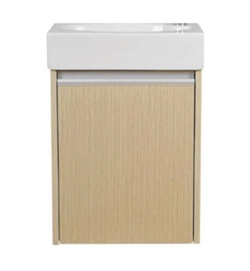 "Ryvyr V-TYNE-45MLB Tyne 17-1/2"" Modern Bathroom Vanity in Light Bamboo Finish"