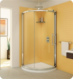 Fleurco Forte Sorrento Arc Sliding Curved Door and Fixed Panel