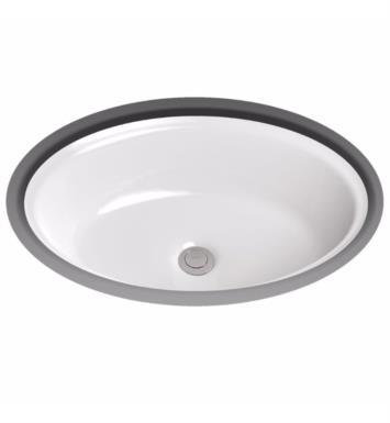 "TOTO LT643#11 Dartmouth 19 1/4"" Vitreous China Oval Undercounter Lavatory Sink With Finish: Colonial White"