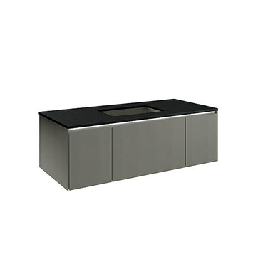 "Robern VD48BC Deep Customizable 48"" Modern Bathroom Vanity with Three-Drawer and Center Mount Sink Position"