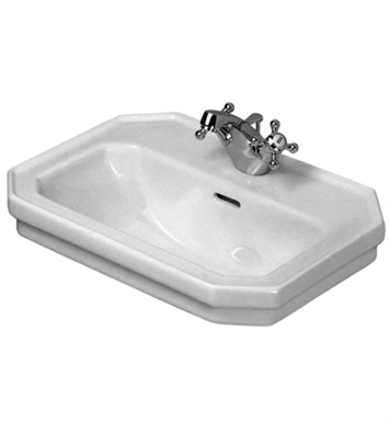 Duravit 0438700030 1930 Series Washbasin with Overflow and Tap Platform With Faucet Holes: Three Hole