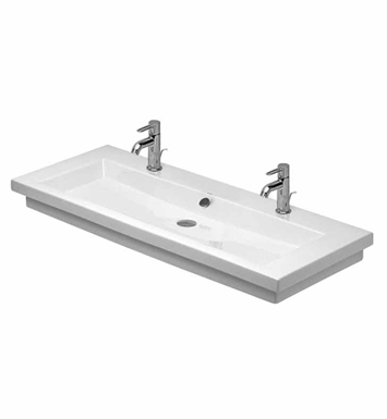 Duravit 04911200261 2nd Floor Two Hole Bathroom Sink - ADA Ground Version