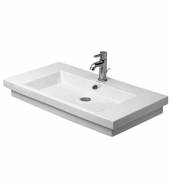 Duravit 04918000601 2nd Floor Drop In-Self Rimming Porcelain Bathroom Sink With Faucet Holes: No Hole
