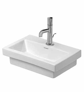 Duravit 07904000701 2nd Floor Wall Mount Porcelain Bathroom Sink With Faucet Holes: No Hole