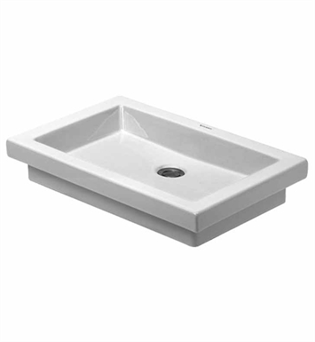 Duravit 03175800001 2nd Floor Drop In Porcelain Washbowl