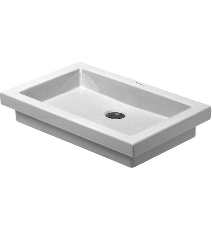 Duravit Ada Sink : Duravit 03175800291 2nd Floor Drop In Porcelain Bathroom Sink