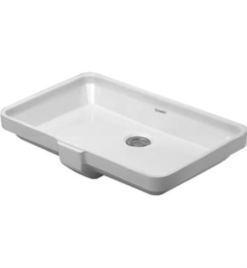 "Duravit 03165300001 2nd Floor 21 7/8"" Undermount Bathroom Sink with Overflow"
