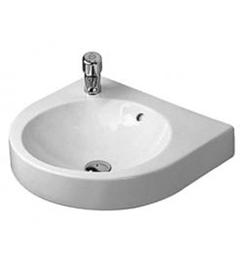 Duravit 04505800 architec wall mount porcelain bathroom sink for Duravit architec sink