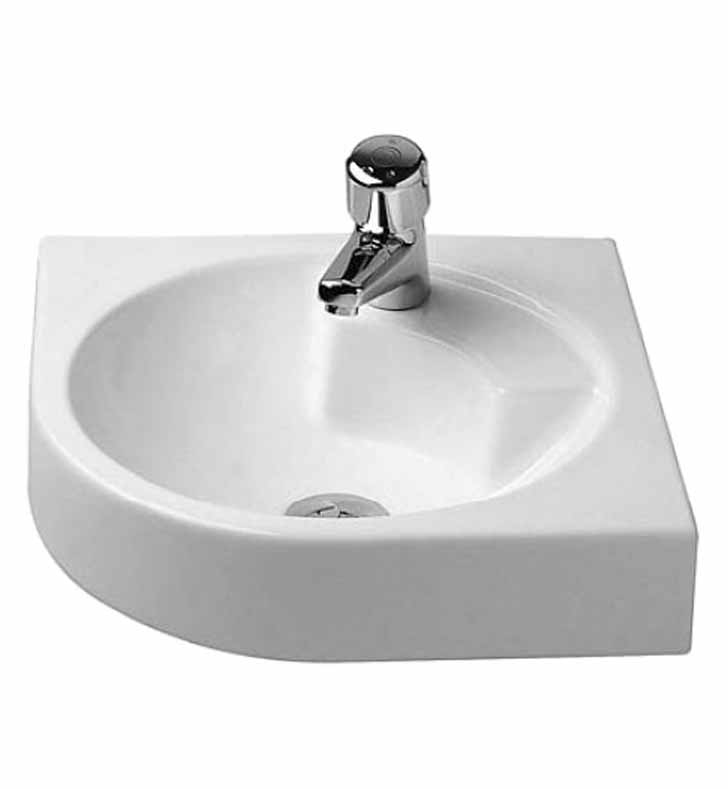 Duravit 04484500 architec wall mount corner porcelain for Duravit architec tub