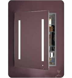 "Robern AC2430D4P1 AiO 24"" Wide Single Door Medicine Cabinet with Integrated Lights, Built-in Electrical Outlets and Magnet Cosmetic Mirror"
