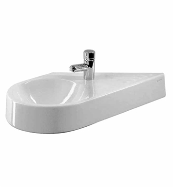 Duravit 0764650000 architec wall mount diagonal porcelain for Duravit architec sink