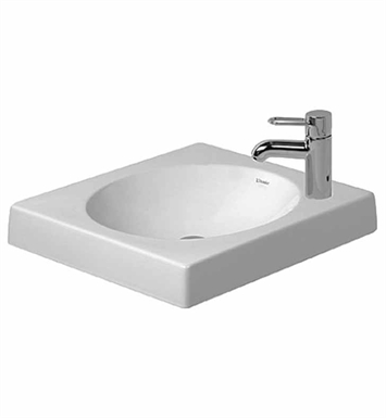 Duravit 0320500008 Architec Above Counter Porcelain Bathroom Sink With Faucet Holes: Single Hole on Right Side