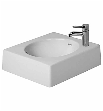 Duravit 0320420000 Architec Above Counter Porcelain Bathroom Sink With Faucet Holes: No Hole
