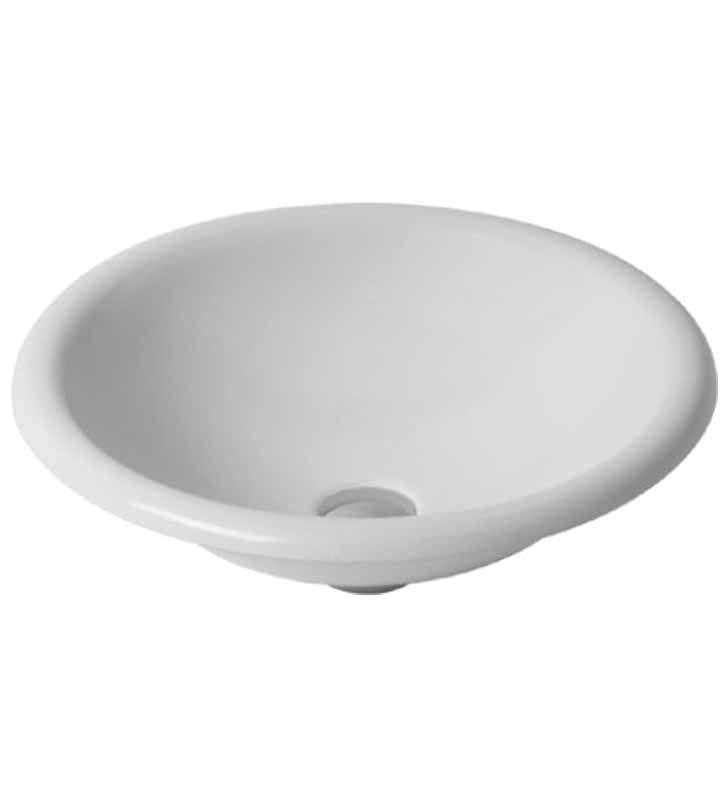 Duravit 0318450000 architec drop in porcelain bathroom sink for Duravit architec sink