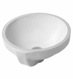 Duravit Architec 12 3/4 Undermount Porcelain Bathroom Sink