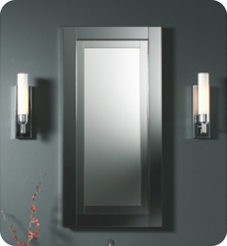 Robern fwmcd2040w candre 19 x 39 3 4 wall mirror with for Mirror 34 productions