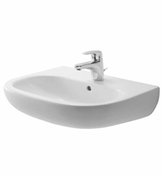 "Duravit D-Code Wall Mount W 21 5/8"" x D 16 7/8"" Porcelain Bathroom Sink"