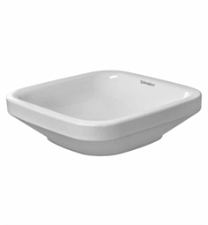 Duravit DuraStyle 16 7/8 inch Vessel Porcelain Bathroom Sink