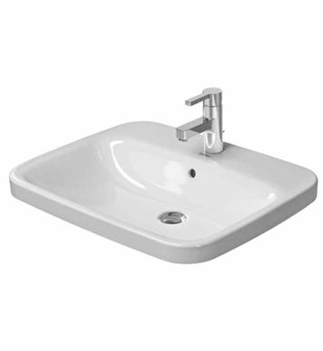 Duravit Ada Sink : Duravit 0374620000 DuraStyle 24 1/4 inch Drop In Porcelain Bathroom ...
