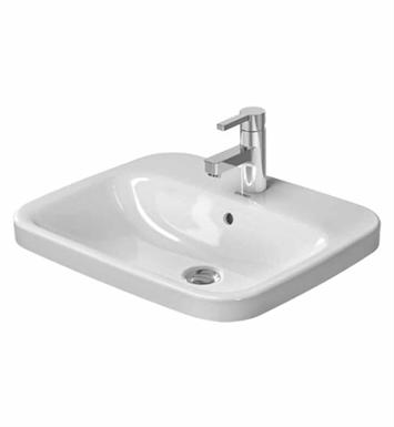 Duravit Ada Sink : Duravit 0374560000 DuraStyle 22 inch Drop In Porcelain Bathroom Sink