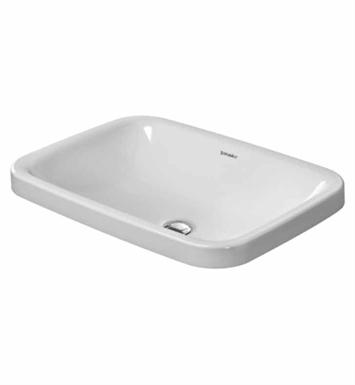 Duravit Ada Sink : Duravit 0372600000 DuraStyle 23 5/8 inch Drop In Porcelain Bathroom ...