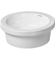Duravit 16 7/8 inch Vessel Porcelain Bathroom Sink