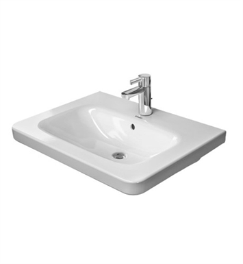 Duravit 2320800000 Durastyle 31 1 2 Inch Drop In Porcelain Bathroom Sink With Faucet Holes