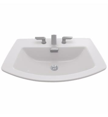 "TOTO LT963.8#03 Soiree 27 1/2"" Vitreous China Rectangular Self-Rimming Lavatory Sink With Finish: Bone And Faucet Holes: 8-Inch Centers"
