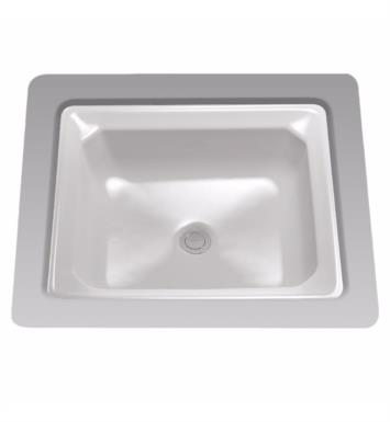"TOTO LT973G#01 Guinevere 20 7/8"" Vitreous China Rectangular Undercounter Lavatory Sink With Finish: Cotton And CeFiONtect: With CeFiONtect Ceramic Glaze"