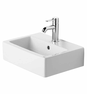 Duravit Vero Wall Mounted Sink : Duravit 07044500 Vero 17 3/4 inch Wall Mounted Porcelain Bathroom Sink